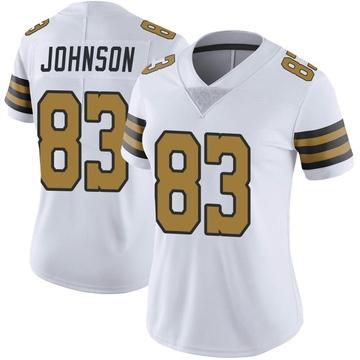 Women's Nike New Orleans Saints Juwan Johnson White Color Rush Jersey - Limited