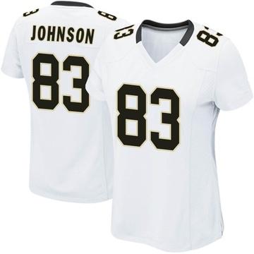 Women's Nike New Orleans Saints Juwan Johnson White Jersey - Game