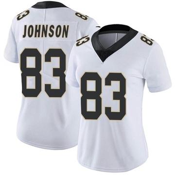 Women's Nike New Orleans Saints Juwan Johnson White Vapor Untouchable Jersey - Limited