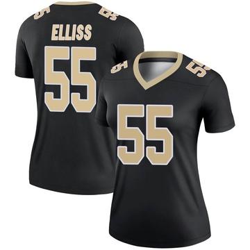 Women's Nike New Orleans Saints Kaden Elliss Black Jersey - Legend
