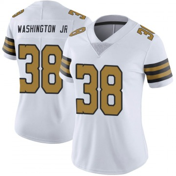 Women's Nike New Orleans Saints Keith Washington Jr. White Color Rush Jersey - Limited