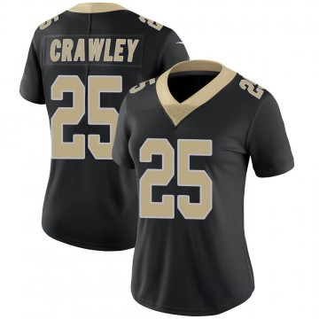 Women's Nike New Orleans Saints Ken Crawley Black Team Color Vapor Untouchable Jersey - Limited