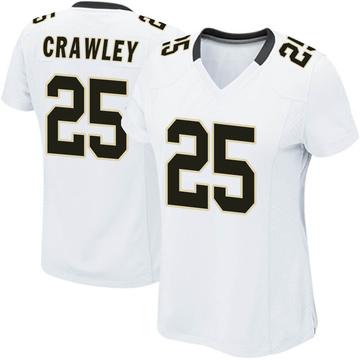 Women's Nike New Orleans Saints Ken Crawley White Jersey - Game