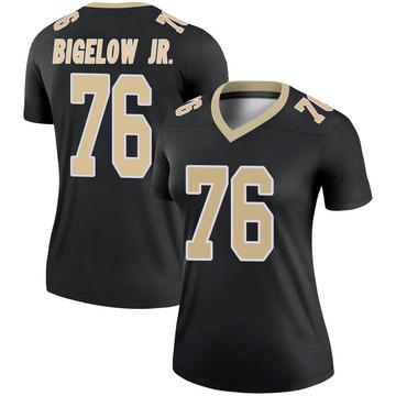 Women's Nike New Orleans Saints Kenny Bigelow Jr. Black Jersey - Legend