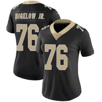 Women's Nike New Orleans Saints Kenny Bigelow Jr. Black Team Color 100th Vapor Untouchable Jersey - Limited