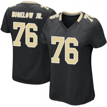 Women's Nike New Orleans Saints Kenny Bigelow Jr. Black Team Color Jersey - Game
