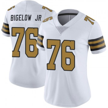 Women's Nike New Orleans Saints Kenny Bigelow Jr. White Color Rush Jersey - Limited