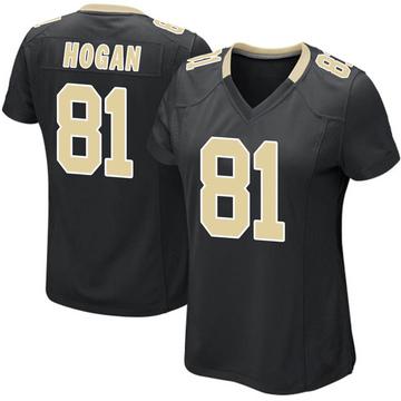 Women's Nike New Orleans Saints Krishawn Hogan Black Team Color Jersey - Game