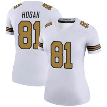 Women's Nike New Orleans Saints Krishawn Hogan White Color Rush Jersey - Legend