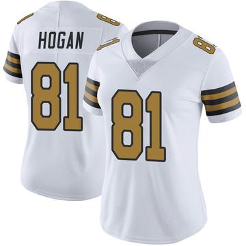 Women's Nike New Orleans Saints Krishawn Hogan White Color Rush Jersey - Limited