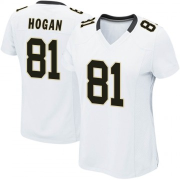Women's Nike New Orleans Saints Krishawn Hogan White Jersey - Game