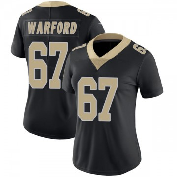 Women's Nike New Orleans Saints Larry Warford Black Team Color Vapor Untouchable Jersey - Limited