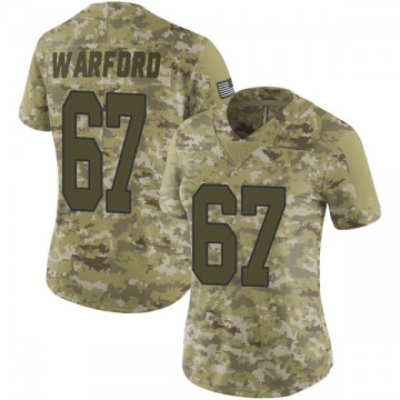 Women's Nike New Orleans Saints Larry Warford Camo 2018 Salute to Service Jersey - Limited