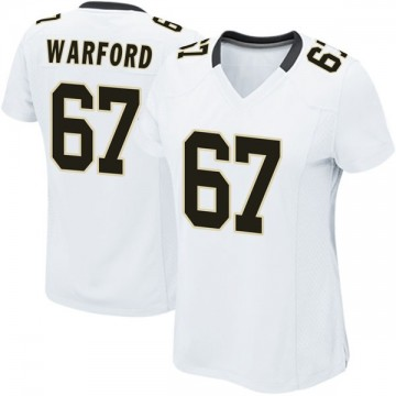 Women's Nike New Orleans Saints Larry Warford White Jersey - Game