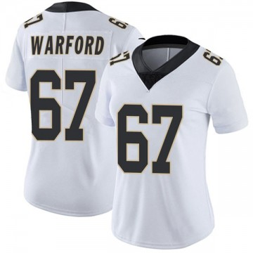 Women's Nike New Orleans Saints Larry Warford White Vapor Untouchable Jersey - Limited