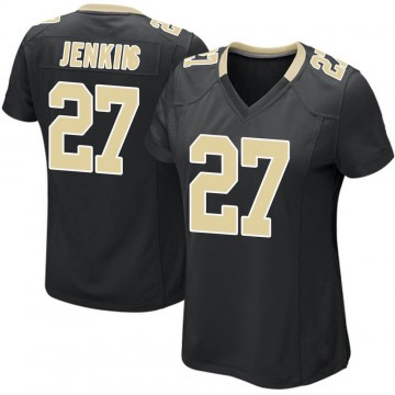 Women's Nike New Orleans Saints Malcolm Jenkins Black Team Color Jersey - Game