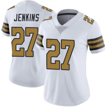 Women's Nike New Orleans Saints Malcolm Jenkins White Color Rush Jersey - Limited