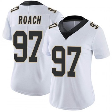 Women's Nike New Orleans Saints Malcolm Roach White Vapor Untouchable Jersey - Limited