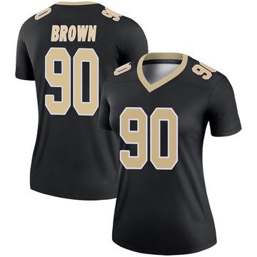 Women's Nike New Orleans Saints Malcom Brown Black Jersey - Legend