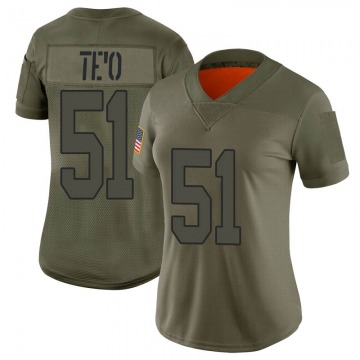Women's Nike New Orleans Saints Manti Te'o Camo 2019 Salute to Service Jersey - Limited