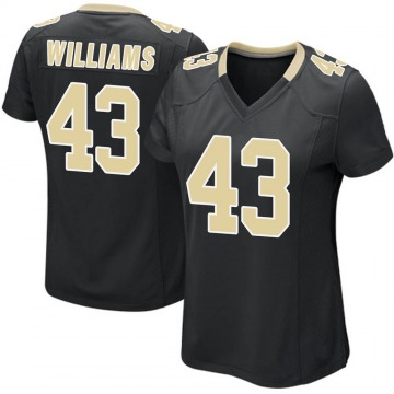 Women's Nike New Orleans Saints Marcus Williams Black Team Color Jersey - Game