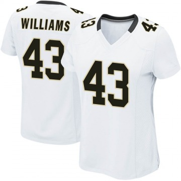 Women's Nike New Orleans Saints Marcus Williams White Jersey - Game