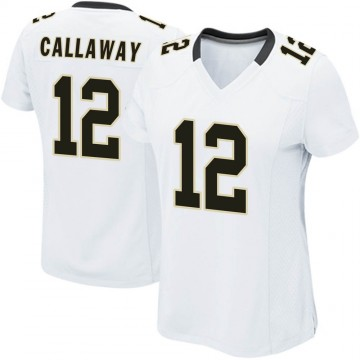 Women's Nike New Orleans Saints Marquez Callaway White Jersey - Game