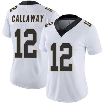Women's Nike New Orleans Saints Marquez Callaway White Vapor Untouchable Jersey - Limited