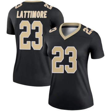 Women's Nike New Orleans Saints Marshon Lattimore Black Jersey - Legend