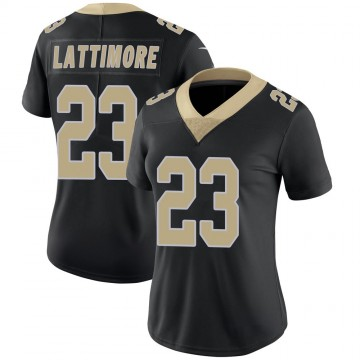 Women's Nike New Orleans Saints Marshon Lattimore Black Team Color 100th Vapor Untouchable Jersey - Limited