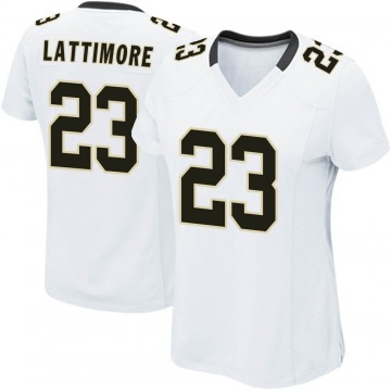 Women's Nike New Orleans Saints Marshon Lattimore White Jersey - Game