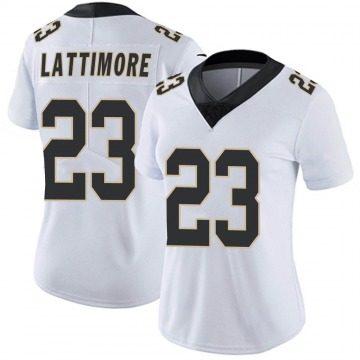 Women's Nike New Orleans Saints Marshon Lattimore White Vapor Untouchable Jersey - Limited