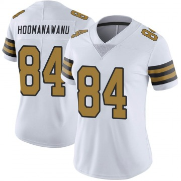 Women's Nike New Orleans Saints Michael Hoomanawanui White Color Rush Jersey - Limited