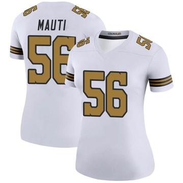 Women's Nike New Orleans Saints Michael Mauti White Color Rush Jersey - Legend