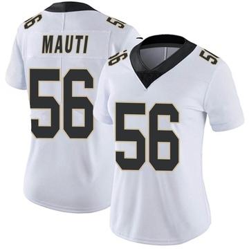 Women's Nike New Orleans Saints Michael Mauti White Vapor Untouchable Jersey - Limited