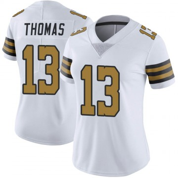 Women's Nike New Orleans Saints Michael Thomas White Color Rush Jersey - Limited