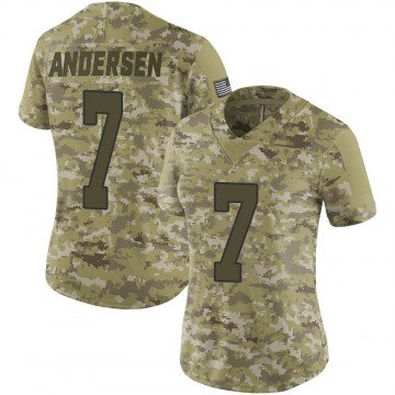Women's Nike New Orleans Saints Morten Andersen Camo 2018 Salute to Service Jersey - Limited