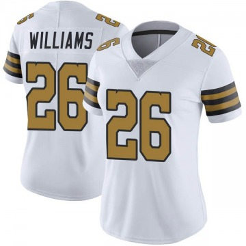Women's Nike New Orleans Saints P.J. Williams White Color Rush Jersey - Limited
