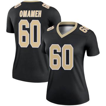 Women's Nike New Orleans Saints Patrick Omameh Black Jersey - Legend