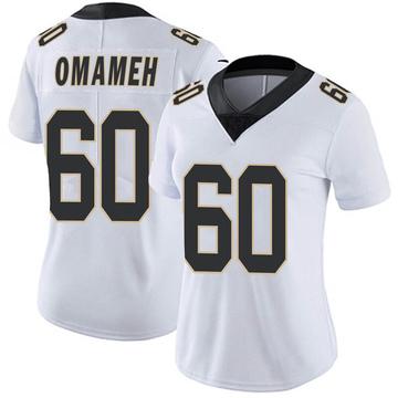 Women's Nike New Orleans Saints Patrick Omameh White Vapor Untouchable Jersey - Limited