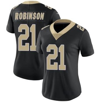 Women's Nike New Orleans Saints Patrick Robinson Black Team Color Vapor Untouchable Jersey - Limited