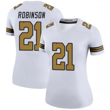 Women's Nike New Orleans Saints Patrick Robinson White Color Rush Jersey - Legend