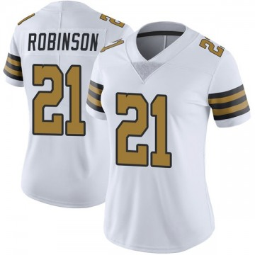Women's Nike New Orleans Saints Patrick Robinson White Color Rush Jersey - Limited