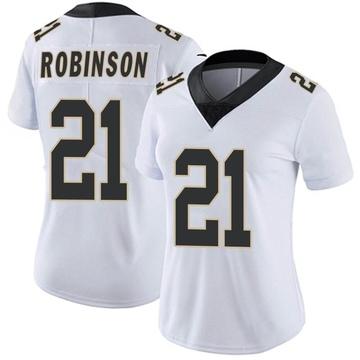 Women's Nike New Orleans Saints Patrick Robinson White Vapor Untouchable Jersey - Limited