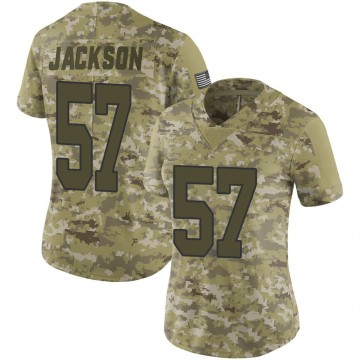 Women's Nike New Orleans Saints Rickey Jackson Camo 2018 Salute to Service Jersey - Limited