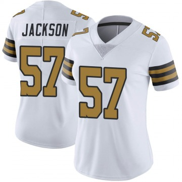 Women's Nike New Orleans Saints Rickey Jackson White Color Rush Jersey - Limited