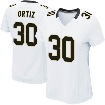 Women's Nike New Orleans Saints Ricky Ortiz White Jersey - Game