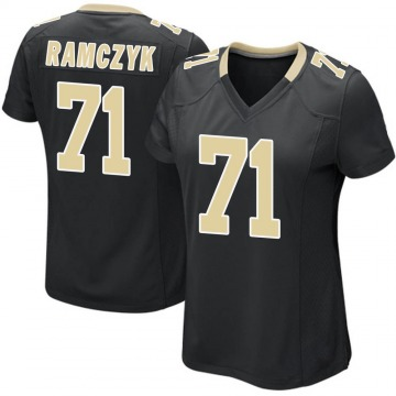 Women's Nike New Orleans Saints Ryan Ramczyk Black Team Color Jersey - Game