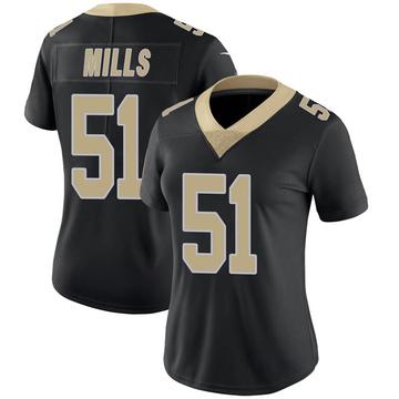 Women's Nike New Orleans Saints Sam Mills Black Team Color 100th Vapor Untouchable Jersey - Limited