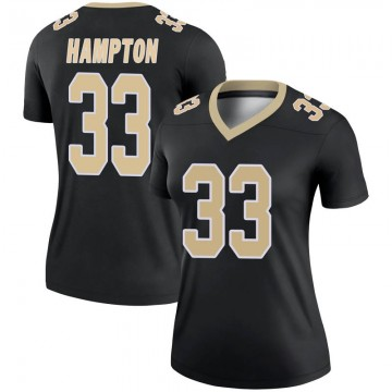 Women's Nike New Orleans Saints Saquan Hampton Black Jersey - Legend